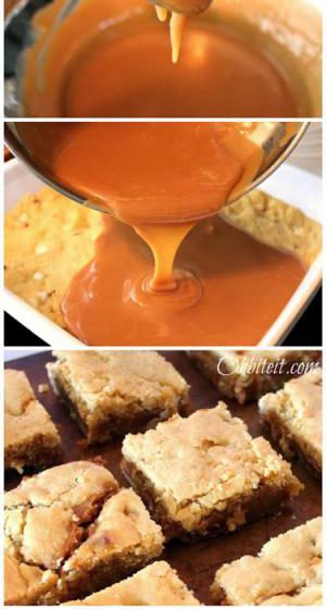 Caramello Blondies