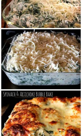 Spinach & Artichoke Bubble Bake